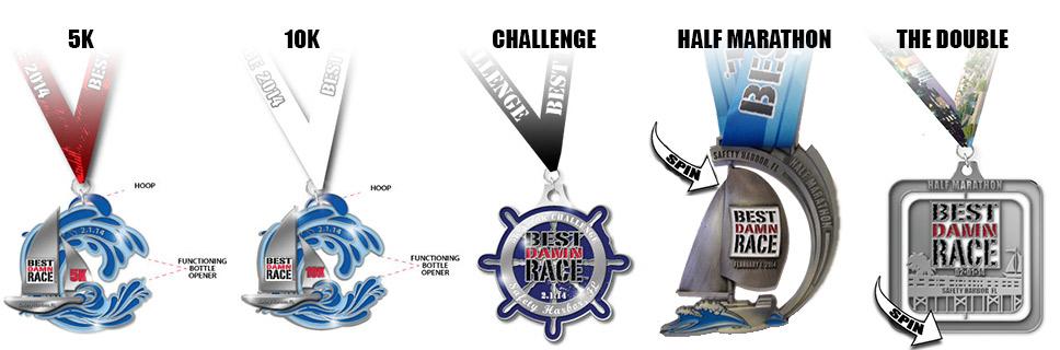 Best Damn Race - Safety Harbor - Medals