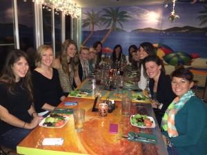 group shot dinner